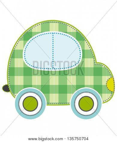 colorful transport stickers car baby design