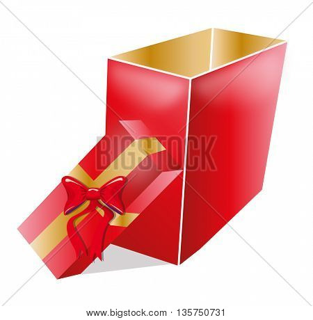 open gift box illustration