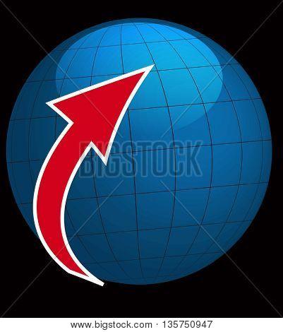 Globe Icon with arrow