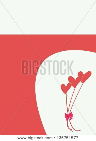 bouquet of hearts-love background