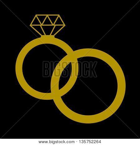 wedding rings icon