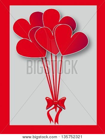 color party baloons heart shaped