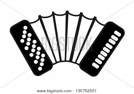 Music instruments. Accordion isolated