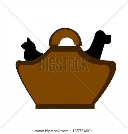 Dog and cat veterinary cartoon icon