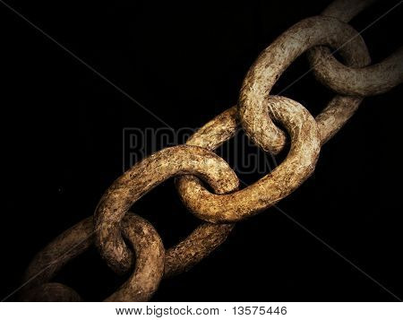 A photo of an old weathered chain