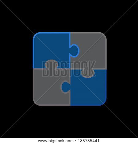 Puzzle icon,illustration for jigsaw puzzle, logic puzzle, problem solving, solutions.
