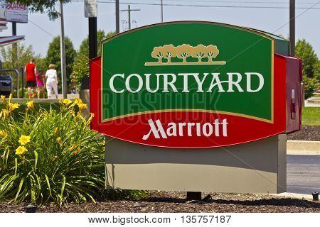 Indianapolis - Circa June 2016: Courtyard by Marriott.  Courtyard is a Mid-Price Division of Marriott Hotels I
