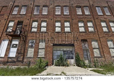 Urban Automotive Blight - Abandoned Automotive Factory - Worn Broken and Forgotten II