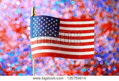 4Th Of July Decorations On Sparkling Background