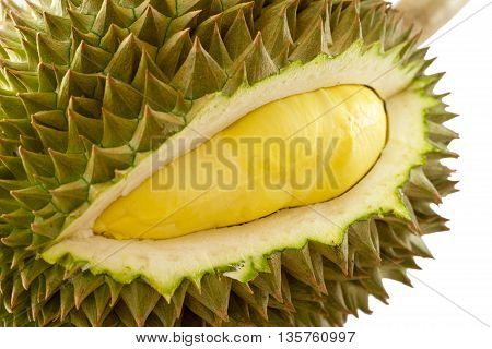 King Of Fruits, Durian On White