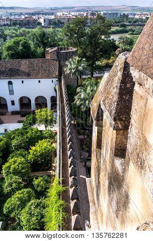 Garden of Alcazar de los Reyes Cristianos Cordoba Spain