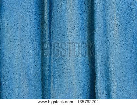texture of blue concrete painting wall background