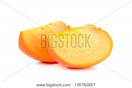 Persimmon Isolated On The White Background