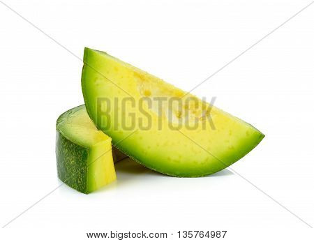 Slice Of Avocado Isolated
