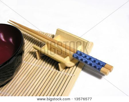 A photo of asian utensils