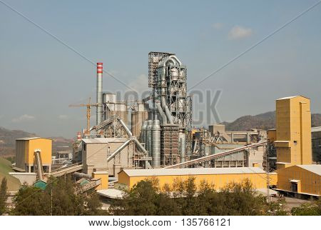 Cement industry have pre-heater cooling tower and other plant
