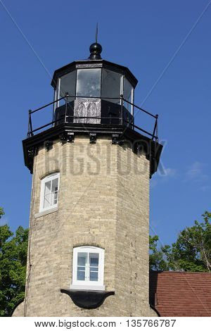 Beautiful Historic Whitehall Station Lighthouse in Michigan
