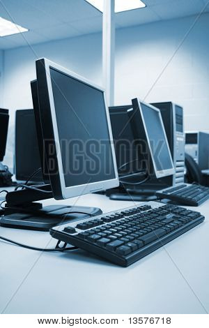 A photo of a computer lab