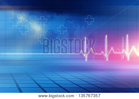 Medical Abstract Background; Abstract Background Suitable for Healthcare and Medical News Topic 3d illustration