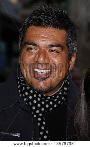 George Lopez at the World premiere of 'Jonas Brothers: The 3D Concert Experience' held at the El Capitan Theater in Hollywood, USA on February 24, 2009.