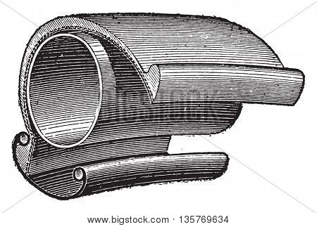 Heeled tires, vintage engraved illustration. Industrial encyclopedia E.-O. Lami - 1875.