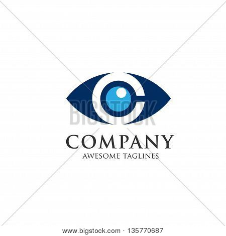 eyes with a magnifying glass. Logo. Search, analysis, study, medicine, ophthalmology