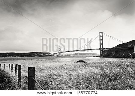 Golden Gate bridge expanding and connecting land across the bay