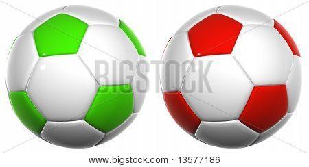 3D de alta resolución balones de fútbol aislados