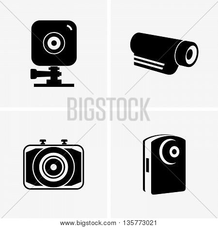 Set of four action cams ( shade pictures )