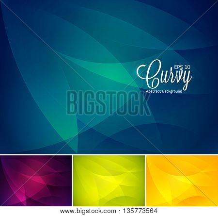 Curvy abstract background. Wavy abstract background, vector EPS 10. Suitable for your design element