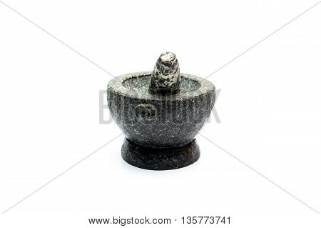 Mortar on white background, Equipment for cooking