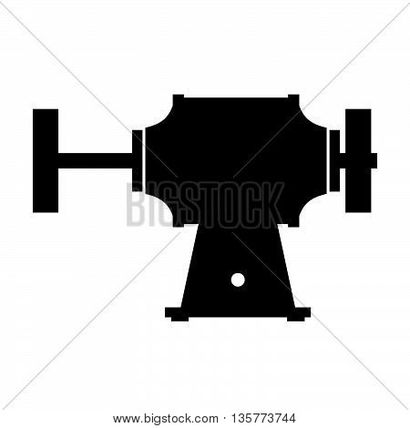 Grinder machine ( shade picture ) on white background