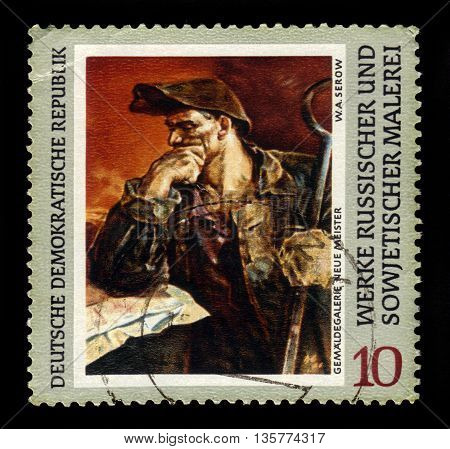 GERMANY - CIRCA 1969: a stamp printed in the Germany, Democratic Republic (DDR)  shows painting