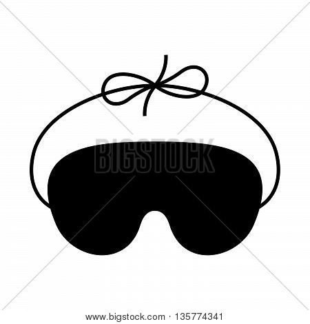 Sleep mask ( shade picture ) on white background