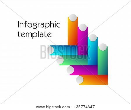 Illustration of infographic template with colorful arrows decoration