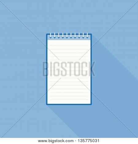blank line notebook paper icon template, flat design