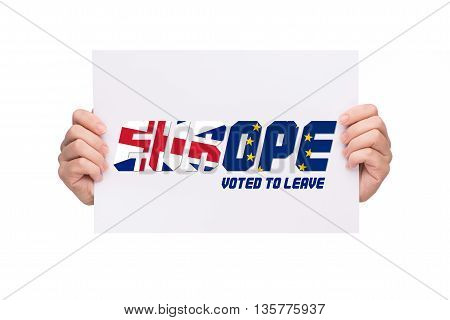 EUROPE. Conceptualize idea for Britain leaves Europe.