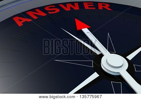 Black Compass With Answer Word On It