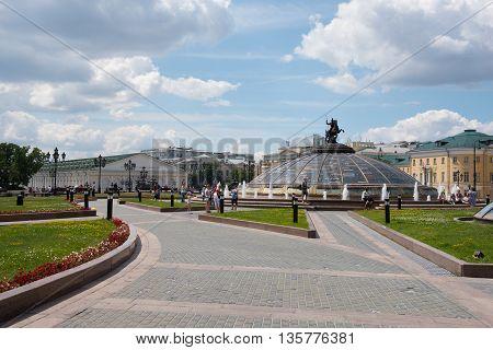 Moscow, Russia - June 24, 2016: Manezhnaya Square