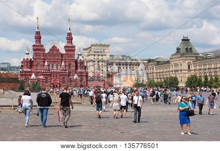 Moscow, Russia - June 24, 2016: State Historical Museum On Red Square