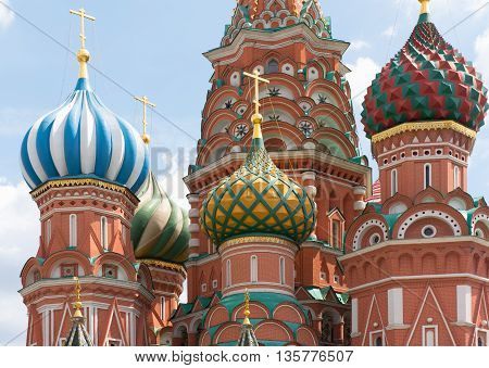 Moscow, Russia - June 24, 2016: St. Basil's Cathedral On Red Square
