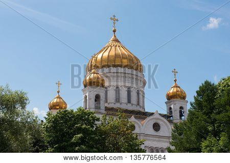 Moscow, Russia - June 24, 2016: Cathedral Of Christ The Saviour