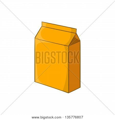 Cardboard packaging icon in cartoon style isolated on white background. Production and packaging symbol