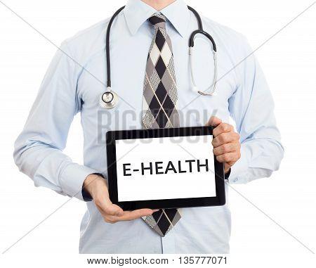 Doctor Holding Tablet - E-health