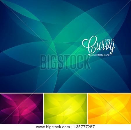 Curvy abstract background. Wavy abstract background, vector EPS 10