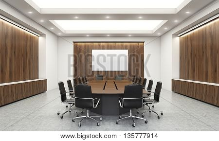 Conference Room With Whiteboard