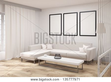 Living Room With Frames Side