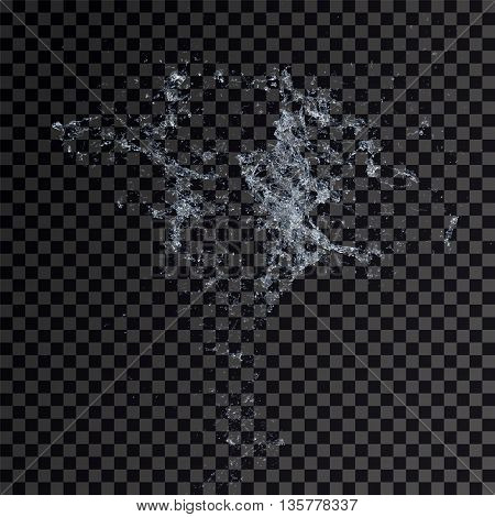 Water splash isolated , spray , wave 3d illustration