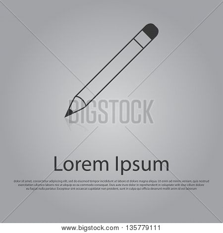 Vector Icon Of Pencil. Flat Design Style