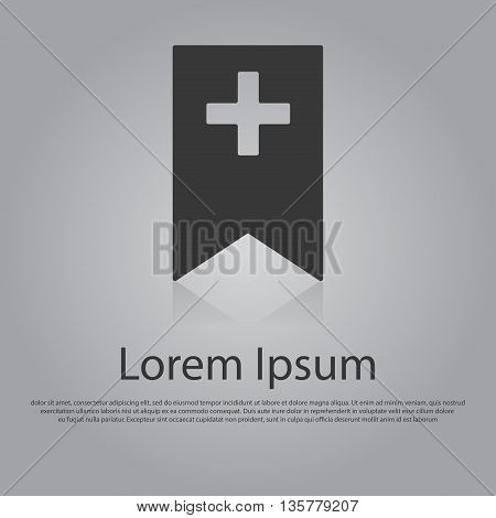 Vector Icon Of Bookmark With Cross